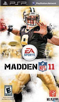 Portada oficial de Madden NFL 11 para PSP