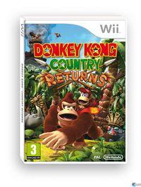 Portada oficial de Donkey Kong Country Returns para Wii