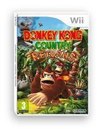 Portada oficial de de Donkey Kong Country Returns para Wii