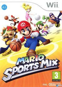 Portada oficial de Mario Sports Mix para Wii