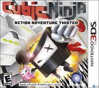 Portada oficial de Cubic Ninja para Nintendo 3DS