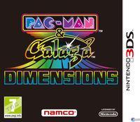 Portada oficial de Pac-Man & Galaga Dimensions para Nintendo 3DS