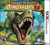 Portada oficial de Combate de Gigantes: Dinosaurios 3D para Nintendo 3DS