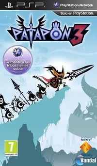 Portada oficial de Patapon 3 para PSP