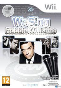 Portada oficial de We Sing Robbie Williams para Wii