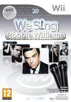Portada oficial de de We Sing Robbie Williams para Wii