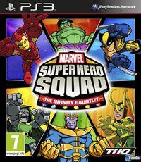 Portada oficial de Marvel Super Hero Squad: The Infinity Gauntlet para PS3