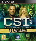 Portada oficial de de CSI: La Conspiración para PS3