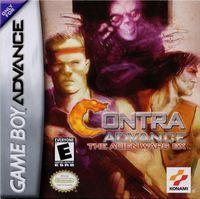 Portada oficial de Contra para Game Boy Advance