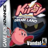 Portada oficial de Kirby: Nightmare in Dream Land para Game Boy Advance