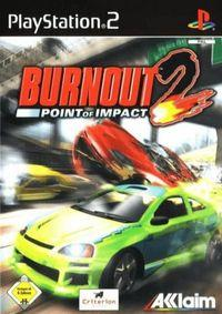 Portada oficial de Burnout 2: Point of Impact para PS2