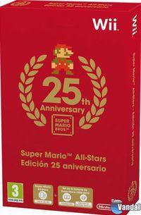 Portada oficial de Super Mario All-Stars Edición 25 aniversario para Wii