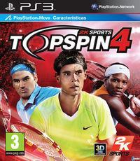Portada oficial de Top Spin 4 para PS3