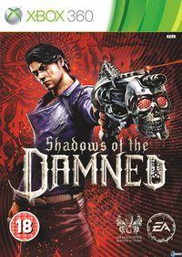 Portada oficial de Shadows of the DAMNED para Xbox 360