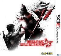 Portada oficial de Resident Evil: The Mercenaries 3D para Nintendo 3DS