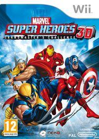 Portada oficial de Marvel Súper Héroes 3D para Wii