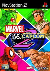 Portada oficial de Marvel vs Capcom 2 para PS2