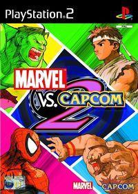 Portada oficial de Marvel vs Capcom 2 para PS2
