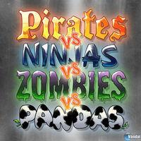 Portada oficial de Pirates vs Ninjas vs Zombies vs Pandas para iPhone