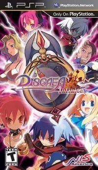 Portada oficial de Disgaea Infinite PSN para PSP