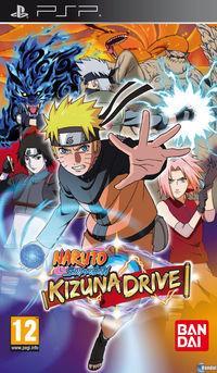Portada oficial de Naruto Shippuden: Kizuna Drive para PSP