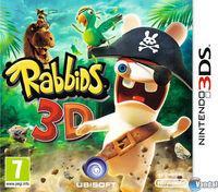 Portada oficial de Rabbids 3D para Nintendo 3DS