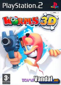 Portada oficial de Worms 3D para PS2