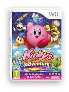 Portada oficial de de Kirby's Adventure para Wii