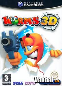 Portada oficial de Worms 3D para GameCube