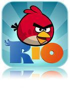 Portada oficial de de Angry Birds RIO para iPhone