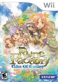 Portada oficial de Rune Factory: Tides of Destiny para Wii