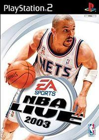Portada oficial de NBA Live 2003 para PS2
