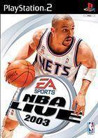 Portada oficial de de NBA Live 2003 para PS2