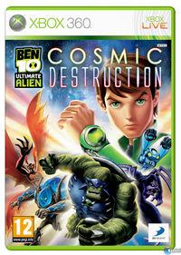 Portada oficial de Ben 10 Ultimate Alien Cosmic Destruction para Xbox 360