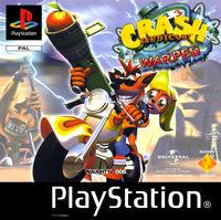 Portada oficial de Crash Bandicoot 3: Warped para PS One