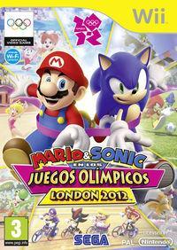Portada oficial de Mario & Sonic en los Juegos Olímpicos London 2012 para Wii