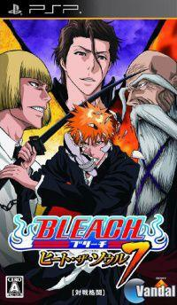 Portada oficial de Bleach: Heat the Soul 7 para PSP