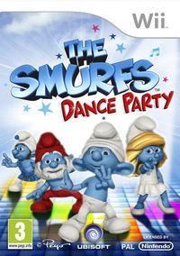 Portada oficial de Los Pitufos Dance Party para Wii
