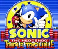 Portada oficial de Sonic the Hedgehog: Triple Trouble CV para Nintendo 3DS