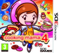 Portada oficial de Cooking Mama 4 para Nintendo 3DS