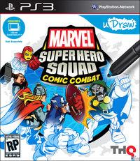 Portada oficial de uDraw Marvel Super Hero Squad: Comic Combat para PS3