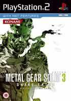 Portada oficial de de Metal Gear Solid 3: Snake Eater para PS2