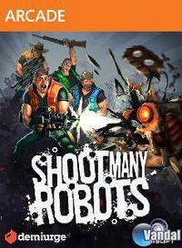 Portada oficial de Shoot Many Robots XBLA para Xbox 360