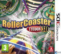 Portada oficial de RollerCoaster Tycoon 3D para Nintendo 3DS