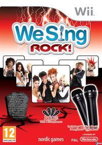 Portada oficial de We Sing Rock! para Wii