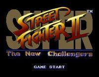 Portada oficial de Super Street Fighter II: The New Challengers MD CV para Wii