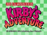 Portada oficial de Kirby's Adventure 3D Classics para Nintendo 3DS