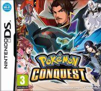 Portada oficial de Pokémon Conquest para NDS