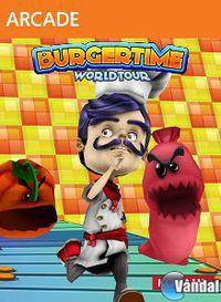 Portada oficial de BurgerTime World Tour XBLA para Xbox 360
