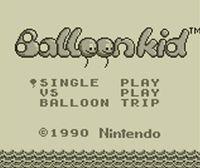 Portada oficial de Balloon Kid CV para Nintendo 3DS